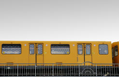 Yellow tram Stock Photography