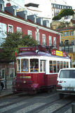 Yellow tramway in Porto, Portugal Royalty Free Stock Image