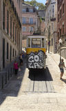 Yellow tramway Royalty Free Stock Images