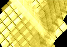 Yellow transparent cubes -vector. Illustration Royalty Free Stock Image