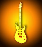 Yellow transparent guitar Stock Photography