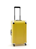 Yellow travel bag suitcase Stock Image