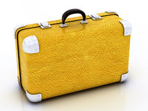 Yellow traveling bag Royalty Free Stock Photography