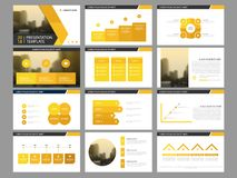 Yellow triangle Bundle infographic elements presentation template. business annual report, brochure, leaflet, advertising flyer,. Corporate marketing banner vector illustration