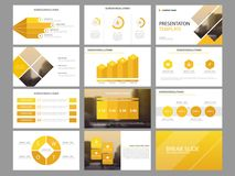 Yellow triangle Bundle infographic elements presentation template. business annual report, brochure, leaflet, advertising flyer,. Corporate marketing banner Royalty Free Stock Photo