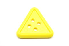 Yellow Triangle button Royalty Free Stock Photos