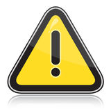 Yellow triangular other dangers warning sign. On white background Royalty Free Stock Photo