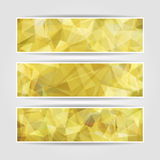 Yellow Triangular Polygonal banners set Royalty Free Stock Photo