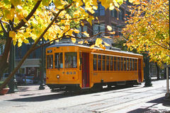 Yellow Trolley stock image