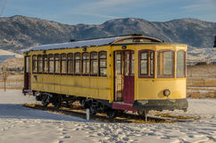 Yellow Trolley Stock Photo