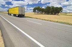 Yellow truck Stock Image