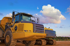 Yellow truck Royalty Free Stock Photography