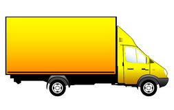 Yellow truck vector illustration