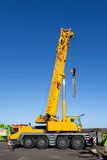 Yellow Truck Crane. On Duty Stock Image