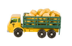 Yellow truck full of medication Royalty Free Stock Images