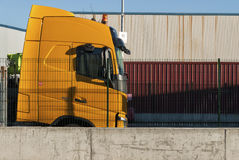 Yellow truck Stock Images