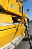 Yellow truck refueling Stock Image
