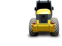Yellow truck road maker Stock Image