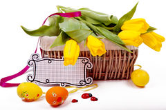 Yellow tulips. Easter Royalty Free Stock Photos