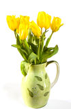 Yellow tulips in a vase Stock Photography