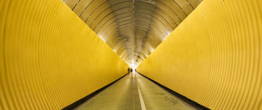 Yellow tunnel Royalty Free Stock Image