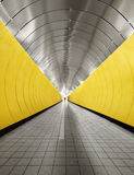 Yellow tunnel Stock Photos