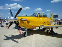 Yellow Turbo Prop Stock Photos