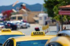 Yellow turkish taxi car in Turkey Royalty Free Stock Photos