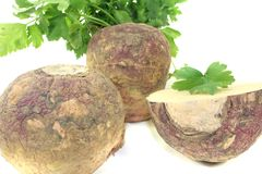Yellow Turnip with parsley Royalty Free Stock Photos