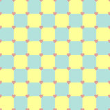 Yellow and turquoise color heart pattern. Yellow and turquoise colors seamless vector pattern with pink hearts Stock Photos