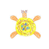 Yellow Turtle vector Royalty Free Stock Photo