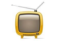 Yellow TV. On white background Royalty Free Stock Image