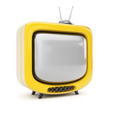 Yellow TV Stock Photography
