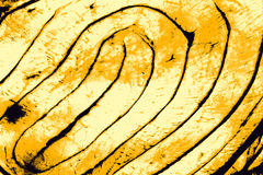 Yellow twirl abstract background. Royalty Free Stock Photo