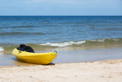 Yellow two seat kayak Stock Photography