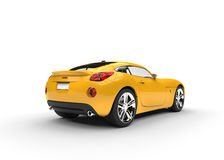 Yellow Two Seater Car Stock Photography