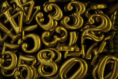 The yellow Typing number Stock Photography