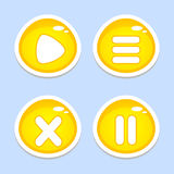Yellow UI elements for app or game Stock Photo