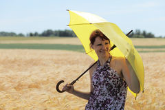 Yellow umbrella. Royalty Free Stock Photography