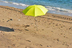 Yellow umbrella Royalty Free Stock Image