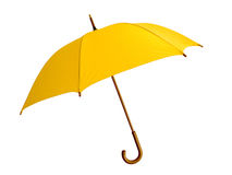 Yellow umbrella. The big yellow umbrella - reliable protection against a rain Royalty Free Stock Image