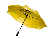 Yellow umbrella  isolated Stock Images