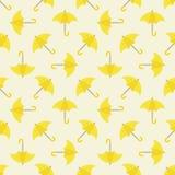 Yellow umbrella seamless pattern Royalty Free Stock Image