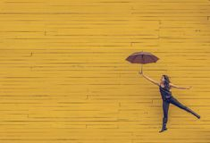 Yellow, Umbrella, Sky, Line Royalty Free Stock Photo