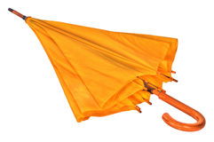Yellow umbrella on a white background Royalty Free Stock Photography