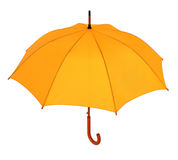 Yellow umbrella on a white background Royalty Free Stock Photos