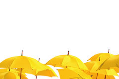 Yellow umbrellas Royalty Free Stock Photography
