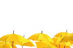 Yellow umbrellas Royalty Free Stock Photography