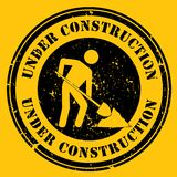 Yellow Under Construction Icon Royalty Free Stock Photos