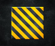 Yellow Under Construction Metal Plate Background Royalty Free Stock Photos